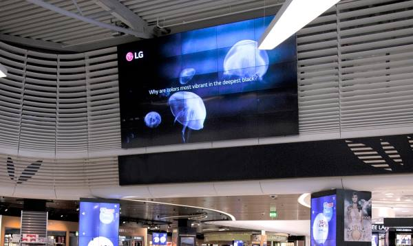 LG video wall in Athens International Airport