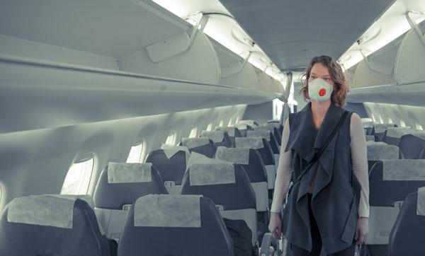 αεροπλάνο και κορονοιός